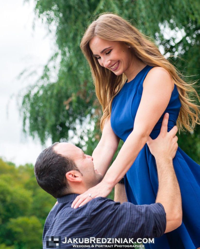 couple engagement session central park new york city