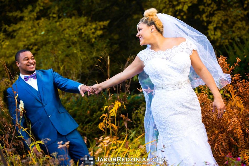 couple wedding photo at Swedish Cottage Marionette Theatre