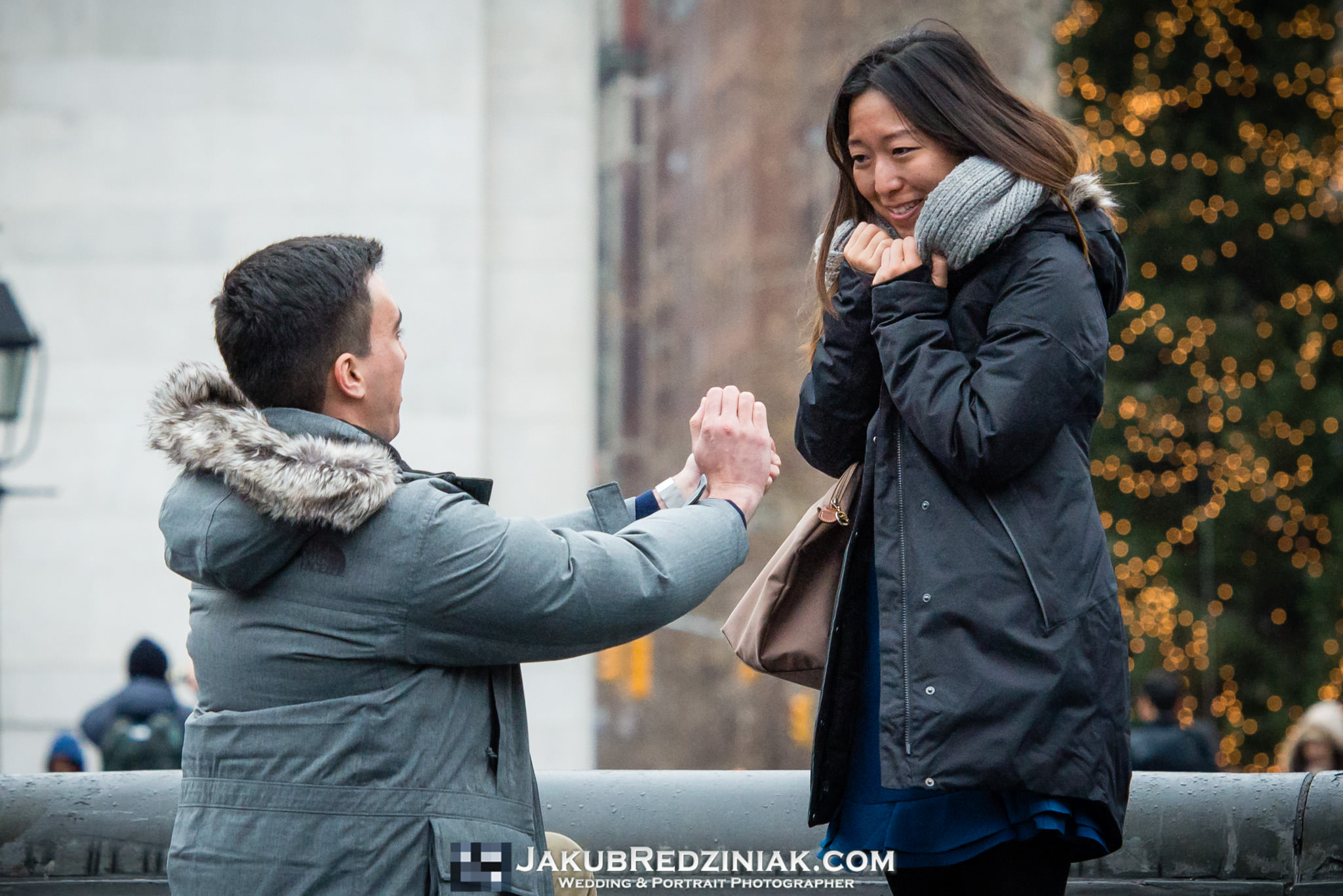 she said yes to proposal in washington square park proposal in winter