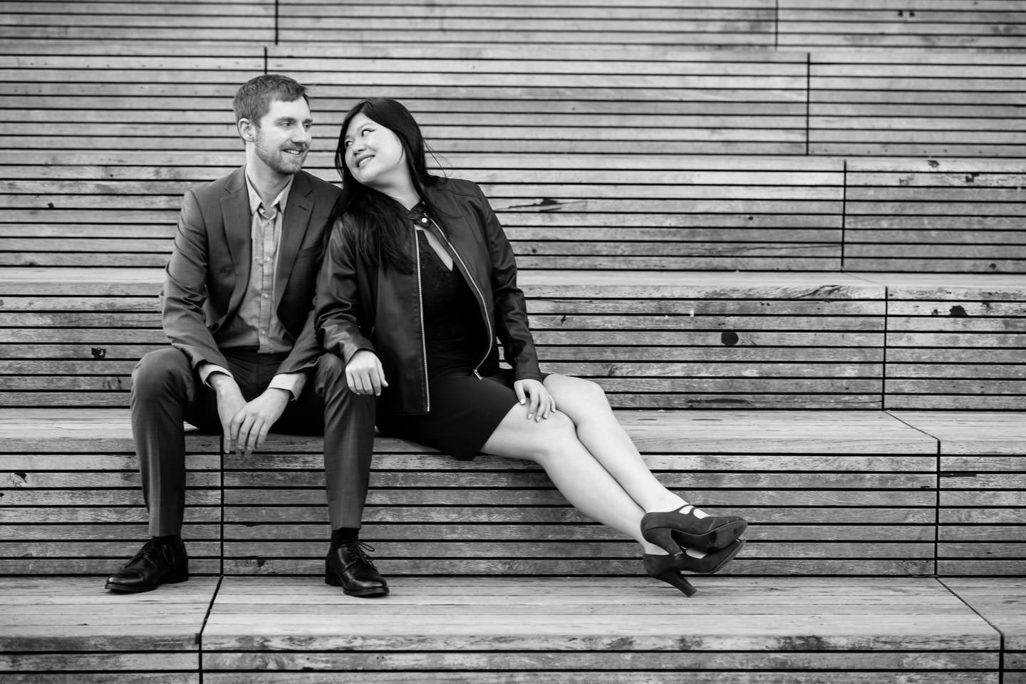 couple photo session on the highline in new york city