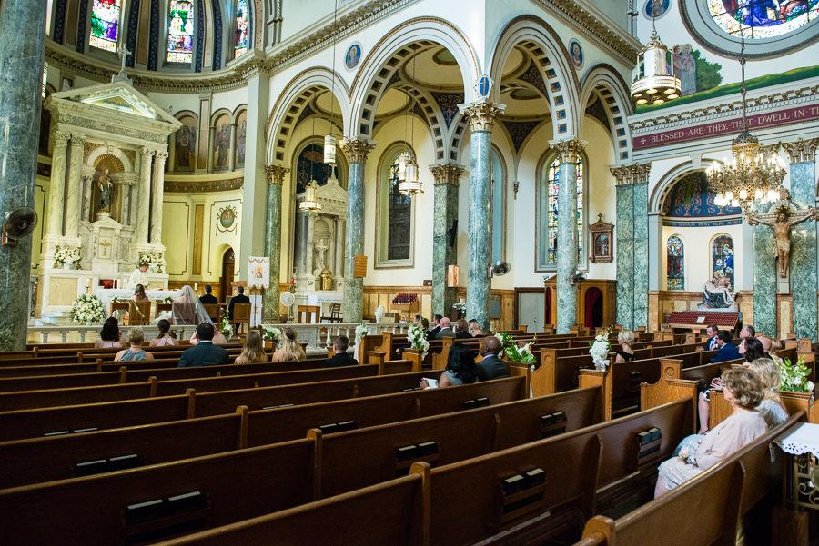 Wedding Ceremony in St. Matthias Church in Ridgewood NY