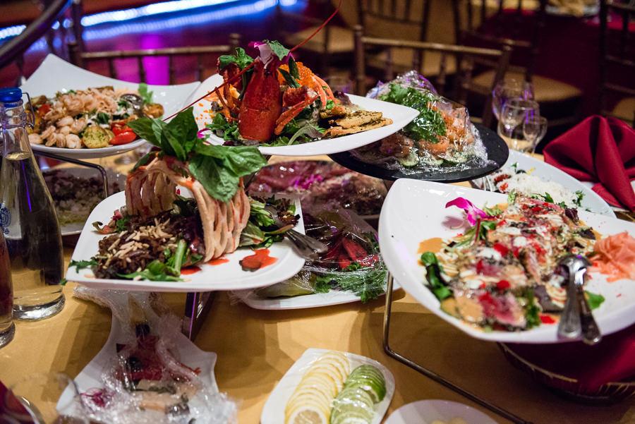 romanoff restaurant in coney island table detail shots