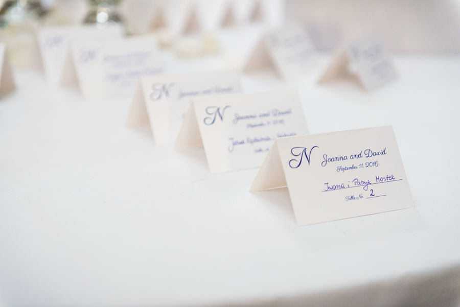 wedding reception table seating cards