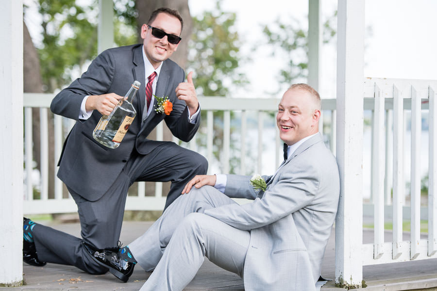 hilarious wedding day photo grooms reaction after drinking vodka