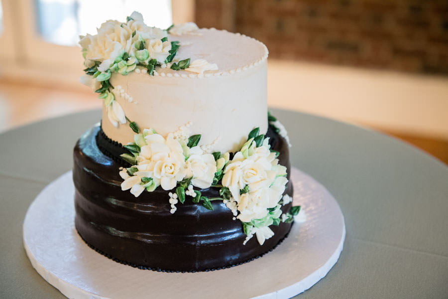small wedding cake at picnic house in prospect park