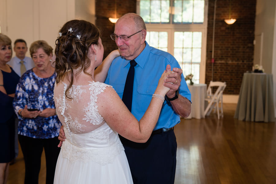 bride dancing with her grandfather at picnic house in prospect park