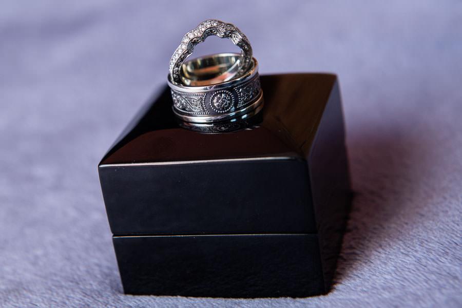 Wedding bands by My Irish Jeweler and Sawa Jeweler
