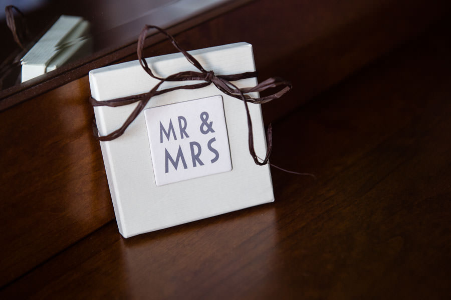 wedding gift for couple mr & mrs box with bow tie