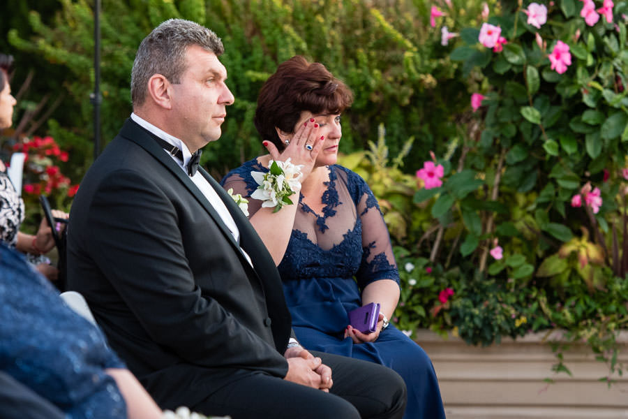 mom crying during at wedding at Giando on the water in Brooklyn, NY