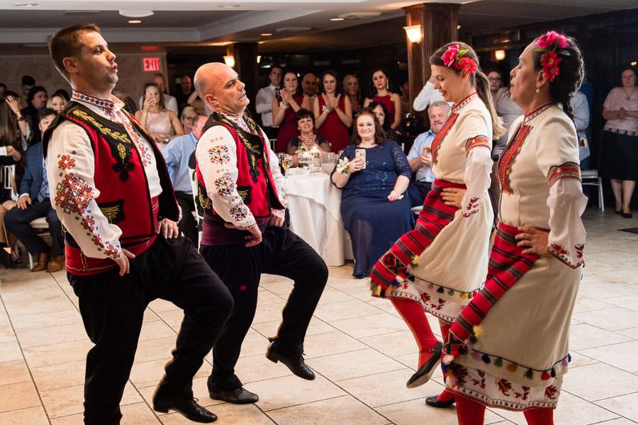 Bulgarian Folk Dancing group performing at Giando on the Water