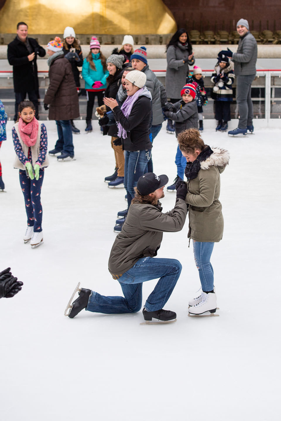 proposal at rockefeller center ice skating rink paparazzi proposals