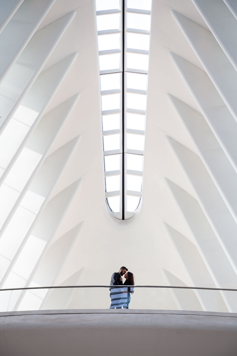 engagement session at the oculus in nyc