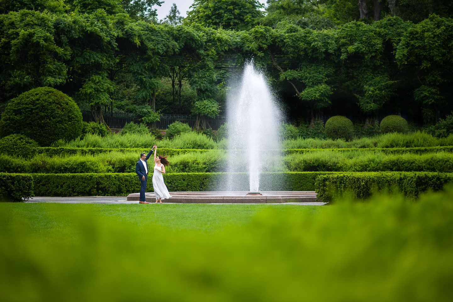 engagement session at the conservatory gardens in central park permit