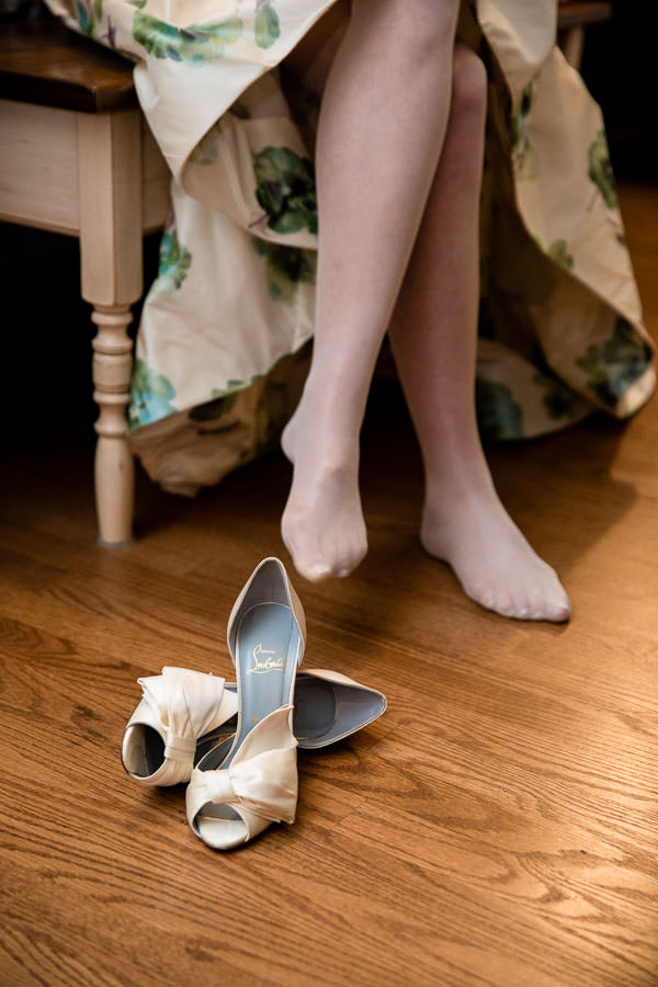 bride shoes: Christian Louboutin red bottom shoes