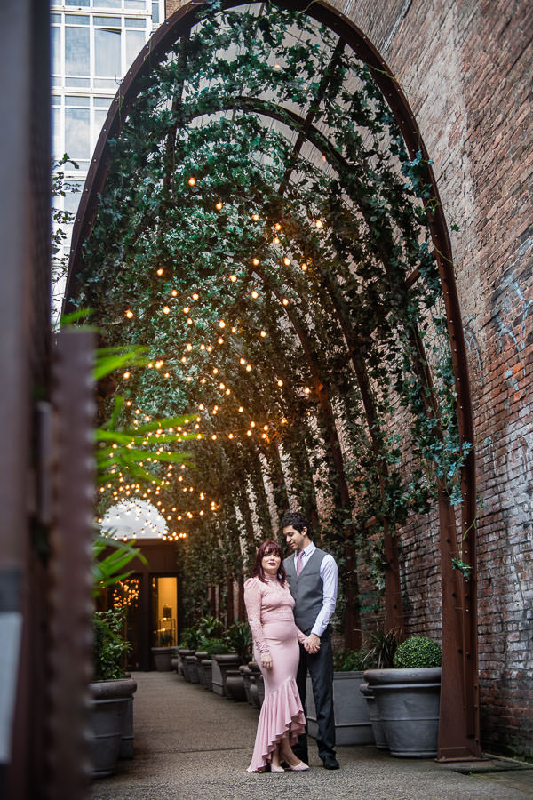 engagement session at nomo soho in new york city