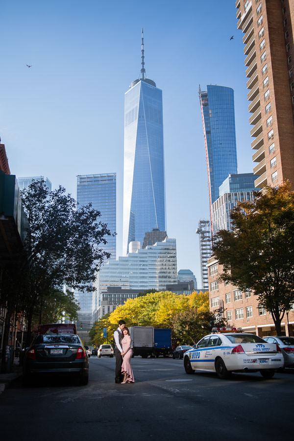 engagement session by world trade center nyc