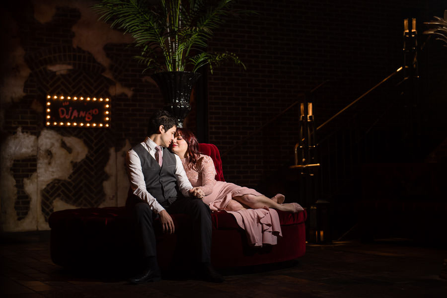 engagement session at roxy hotel in new york city