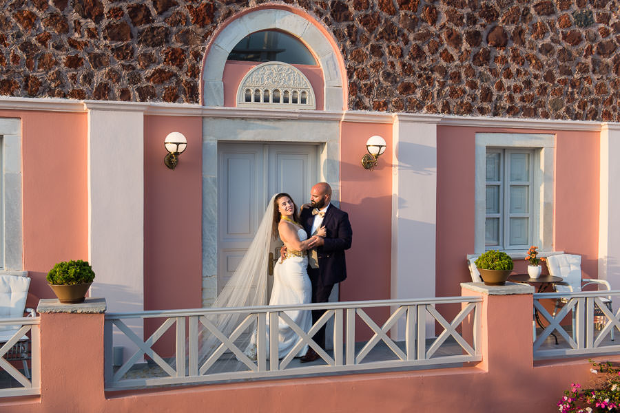 destination wedding in santorini, greece