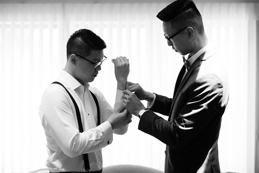 groom prep before wedding