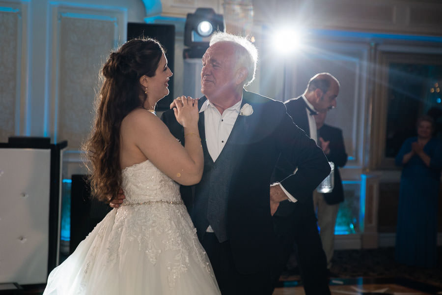 bride and father daughter dance