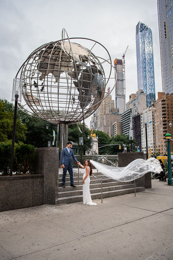 wedding at columbus circle in new york city