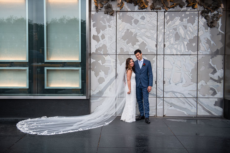 bride and groom portrait session at mandarin oriental in new york city wedding