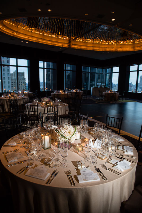 room decor at mandarin oriental in new york city wedding