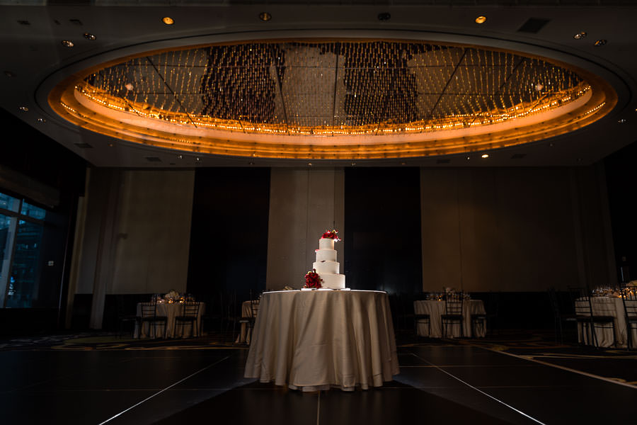 cake at the mandarin oriental in new york city wedding