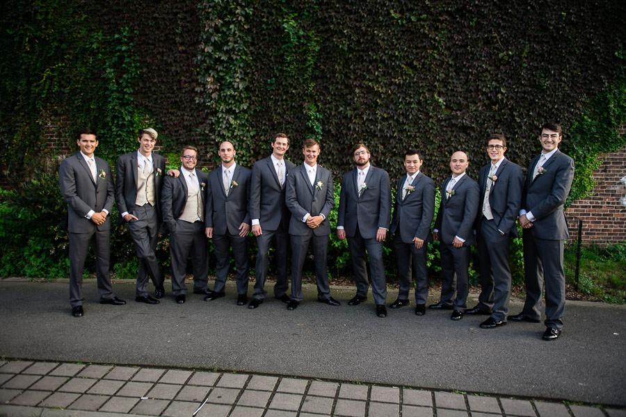 groomsmen at greenpoint loft wedding