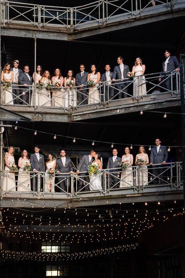 bridal party at greenpoint loft wedding
