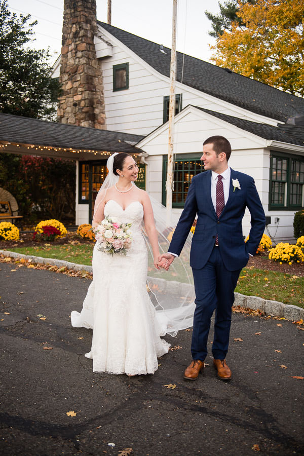 wedding couple at olde mill inn new jersey