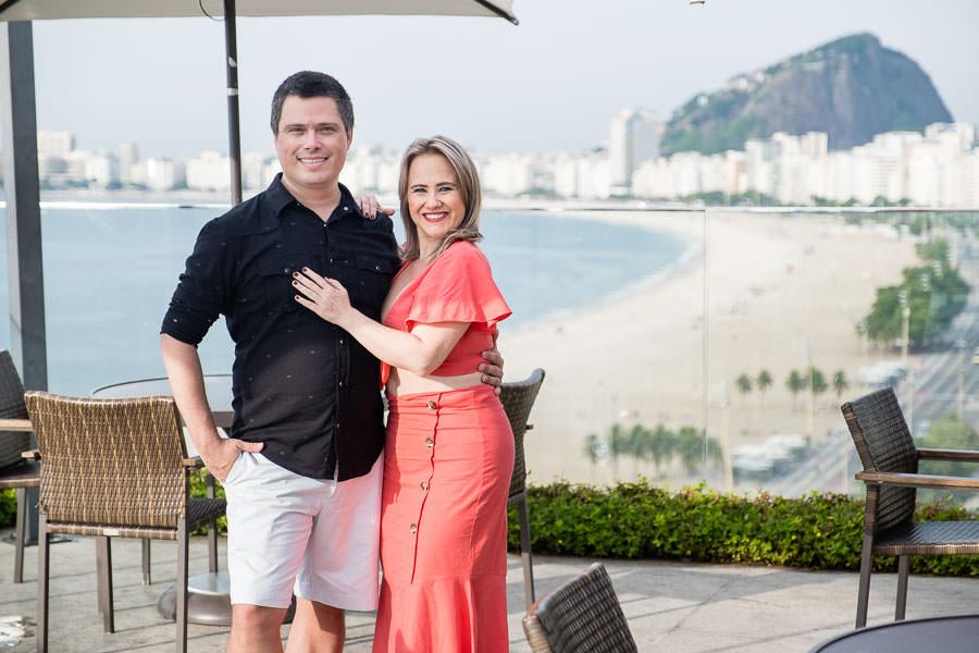couple on windsor leme hotel rooftop in rio de janeiro brazil