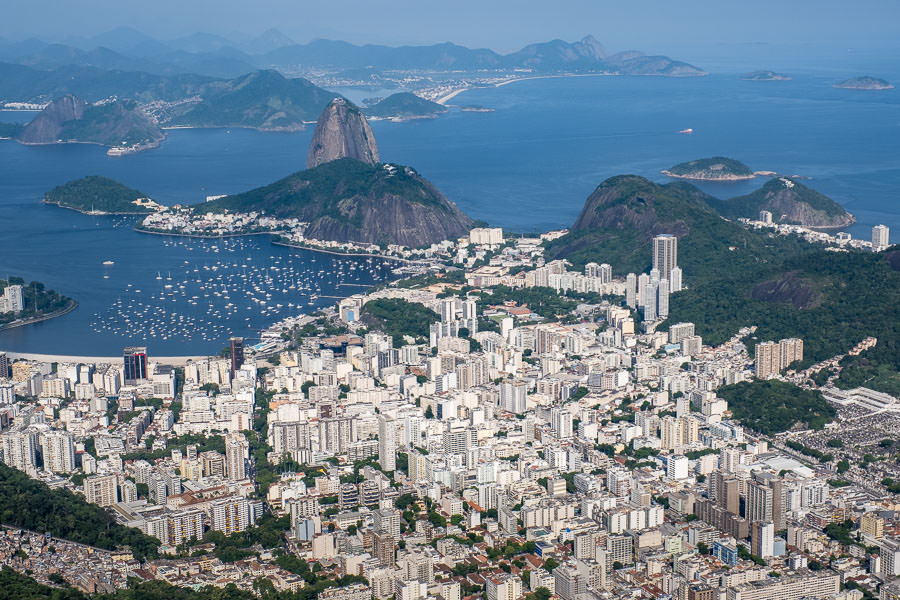 view from cristo redentor statue in brazil