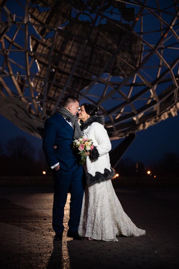 flushing meadows corona park wedding photography by globe