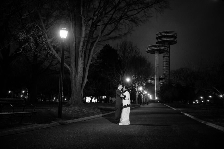 flushing meadows corona park wedding photography by space saucers men in black
