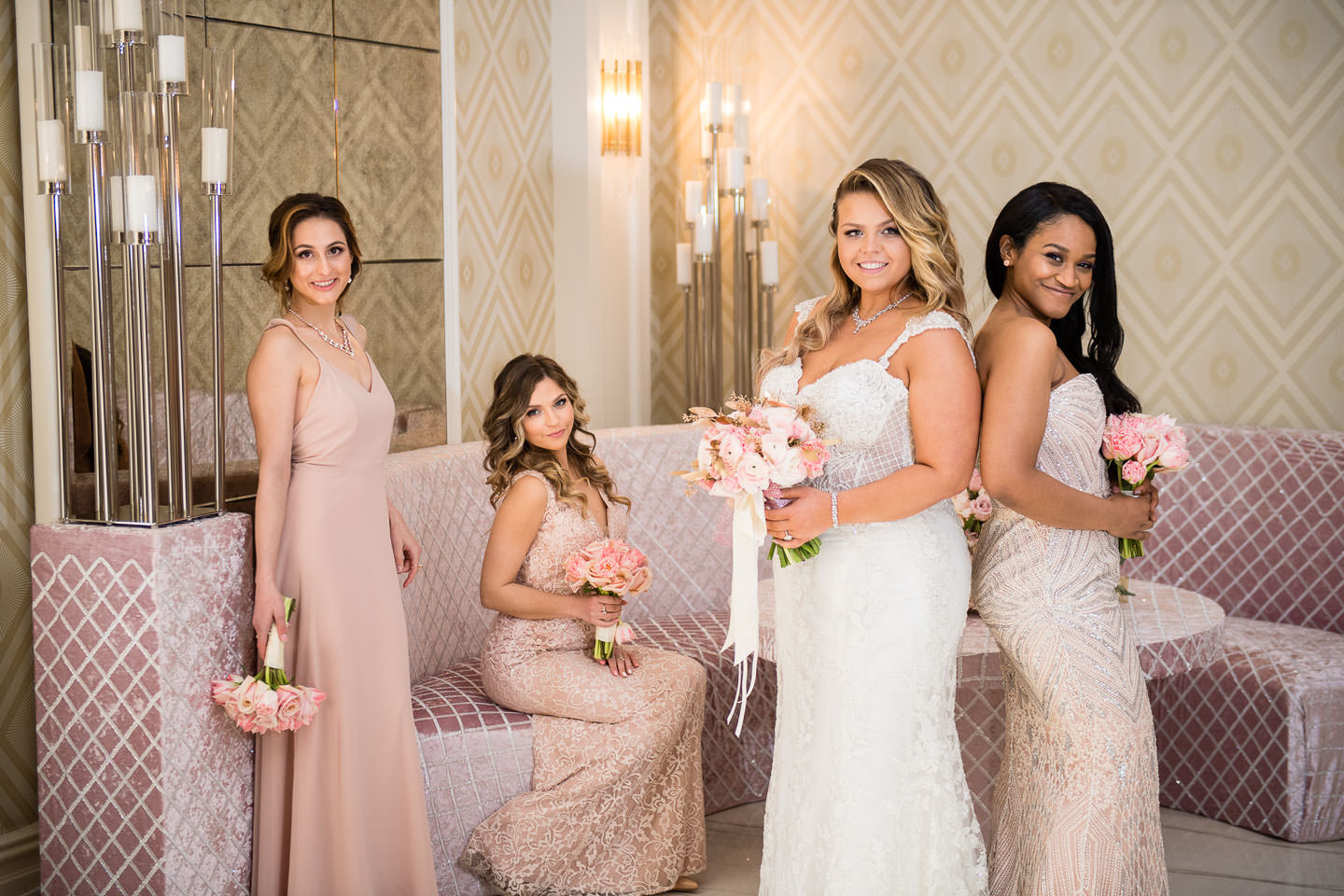 Metropolitan Ballroom Wedding in Brooklyn NY bridesmaids