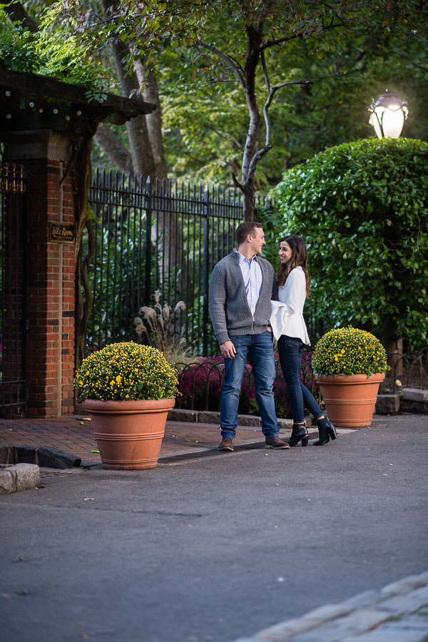 autumn central park engagement session by loeb boathouse