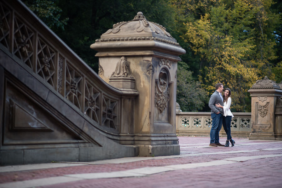 autumn central park engagement session by bethesda fountain