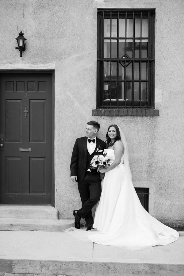 Washington Mews st manhattan wedding couple posing for portraits in nyc