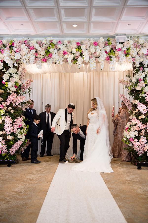 serbian jewish wedding ceremony at metropolitan ballroom in brooklyn nyc