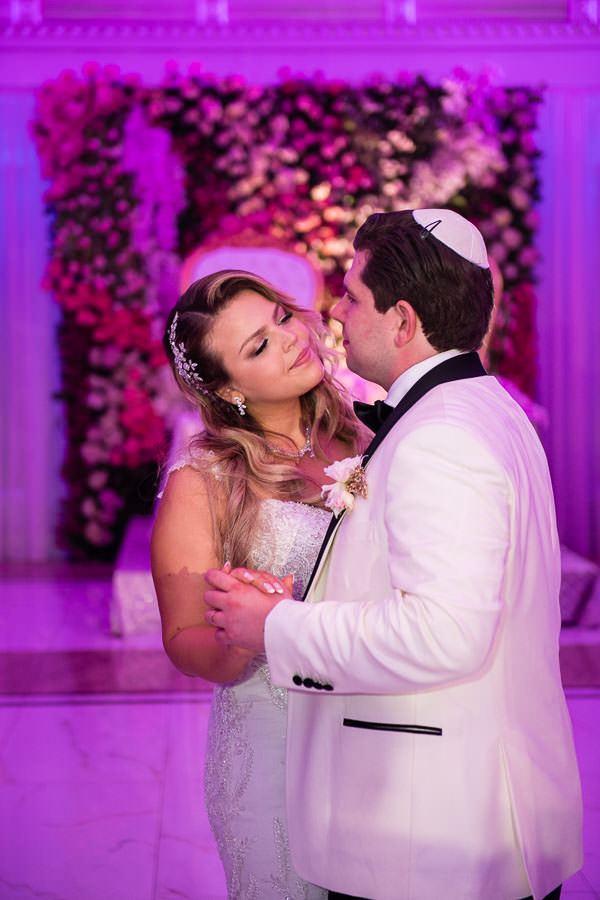 bride and groom first dance at metropolitan ballroom