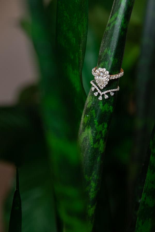 bride's 4 carat diamond engagement ring