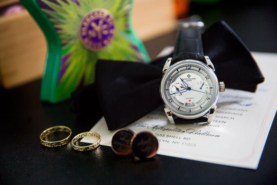 groom wedding day details Patek Philippe watch