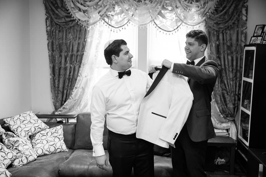 groom getting ready before the wedding