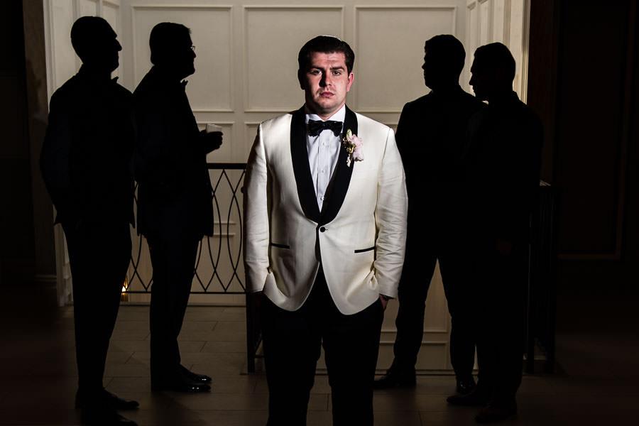 creative wedding photography photo of groomsmen