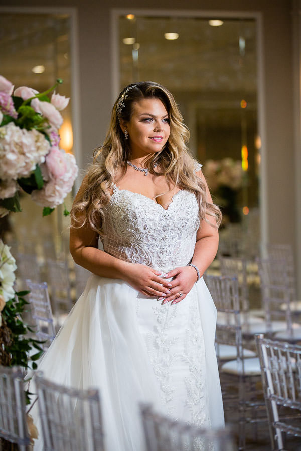 bride portraits before wedding ceremony