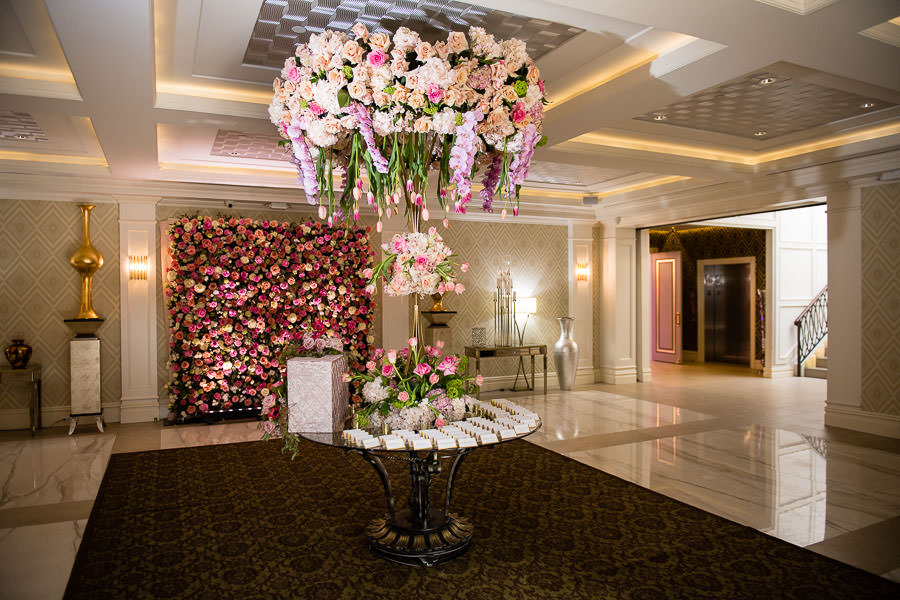 metropolitan ballroom reception details by Gary Abramov Event Productions DBA Floral Art