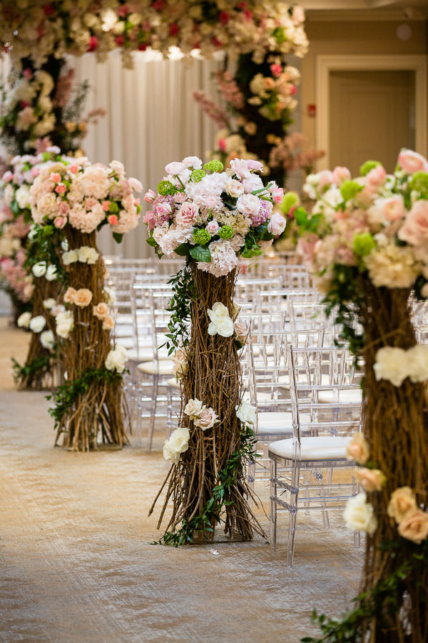 metropolitan ballroom ceremony details by Gary Abramov Event Productions DBA Floral Art