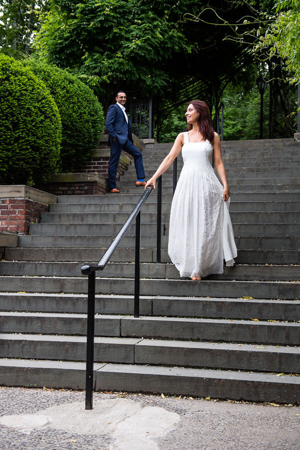 conservatory garden engagement session in central park