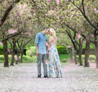 brooklyn botanical engagement session